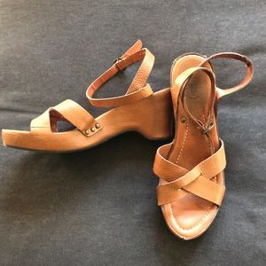 Frye Wedge Sandals - Size 8 Brown
